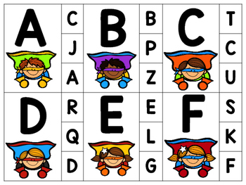 Alphabet Clip Card Set {Superhero}
