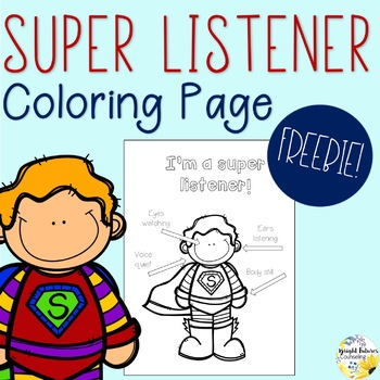 Super Listener Coloring Page