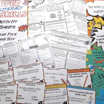 Writing Skills Activities, Posters and Task Cards BUNDLE Year 5 and 6