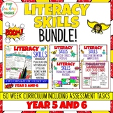Literacy Skills BUNDLE Activities, Posters and Task Cards