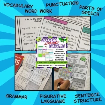 Super Literacy Skills Combo - Literacy Skills Activities and Posters (US)