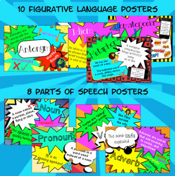 Language Skills BUNDLE Activities Task Cards Posters US