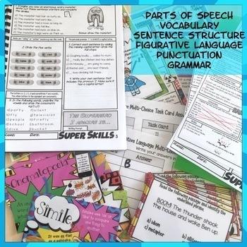 Grammar, Punctuation, Spelling, Vocabulary Super Literacy Skills Activities NZ
