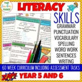 Grammar Punctuation Spelling Vocabulary Literacy Skills Ac