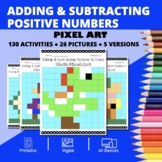 Super Mario: Adding & Subtracting Positive Integers Pixel Art