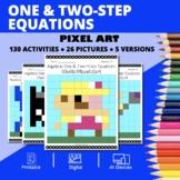 Super Mario: Algebra One & Two-Step Equations Pixel Art