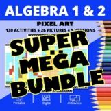 Super Mario Algebra SUPER MEGA BUNDLE: Math Pixel Art Activities