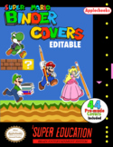 Super Mario Binder Covers and Cover Creator (Editable) Classroom Decor