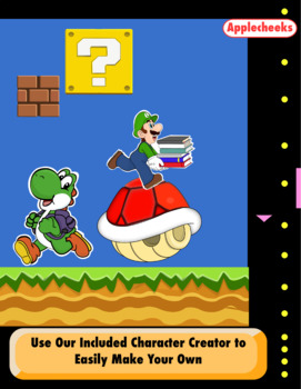 super mario binder covers and cover creator editable classroom decor