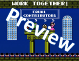 Super Mario Bros. 2 - Work Together Poster (8.5 x 11)