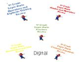 Super Mario Bros. 4th Grade Math Review- Digital