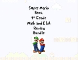 Super Mario Bros. 4th Grade Math and ELA Review Bundle