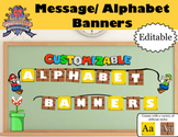 Super Mario Brother Alphabet Hanging Letters and Custom Message Banner Creator
