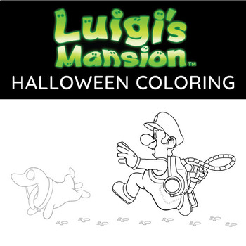 Super Mario Brothers Coloring Page Halloween Coloring Tpt