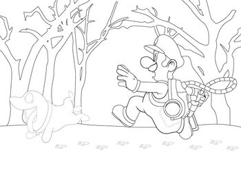 Super Mario Brothers Coloring Page - Halloween Coloring