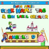 Super Mario Brothers Custom Classroom Desk Name Tags (Editable) Class Decor