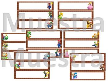 Super Mario Brothers - Nameplates