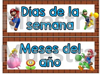 Super Mario Brothers - Spanish calendar Set
