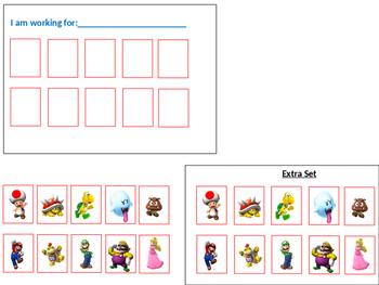 Super Mario Brothers Token Reinforcement Board (Autism, ODD, Special Needs)