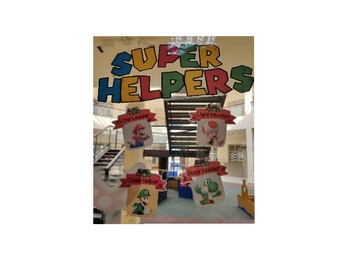 Super Mario Class Helpers Cards for display