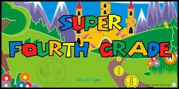 Super Mario Class Poster or Welcome Sign {PK-8} Mario Theme Decor