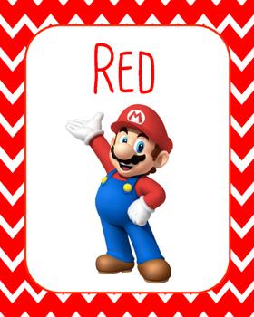 Super Mario Color Cards