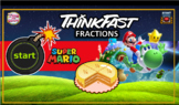 Super Mario Fractions - Powerpoint Game - Math Classroom Blast - FREE TIMERS!