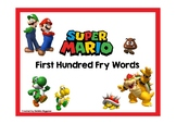 Super Mario Themed Fry First Hundred Words Card Game and B