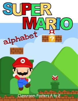 Super Mario Gaming Alphabet Posters