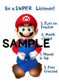 Super Mario Listener Poster