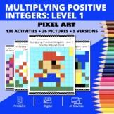 Super Mario: Multiplying Integers #1 Pixel Art Mystery Pictures