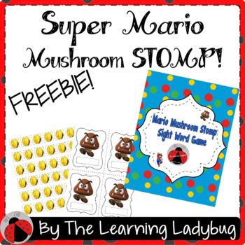Super Mario Mushroom Stomp Sight Word Game
