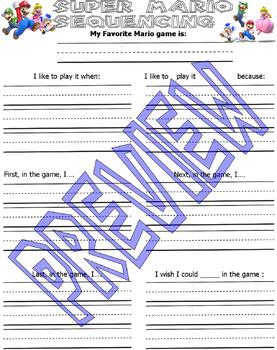 Super Mario Practice Packet : Math Languages Activities : Lined Paper