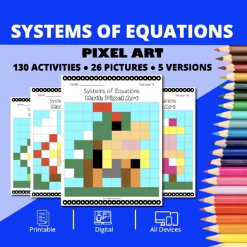 Super Mario: Systems of Equations Pixel Art - Distance Learning Compatible