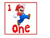 Super Mario themed number charts
