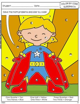 Super Math – 003 – 2nd grade - Common Core Aligned - Fractions