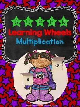 Super Math Multiplication Learning Wheel Printable