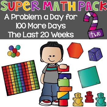 Super Math Pack 2: A Problem a Day for the Last 100 days {20 weeks}