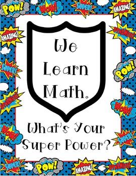 Super Math Poster
