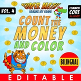 Super Math – Count the Money and Colour – BILINGUAL+EDITABLE