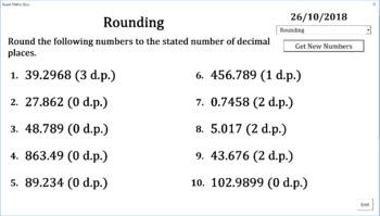 number quiz generator