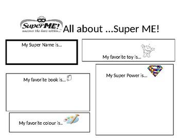 Super Me Worksheet