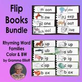 Rhyming Word Family Flip Books Bundle of 133 Word Families