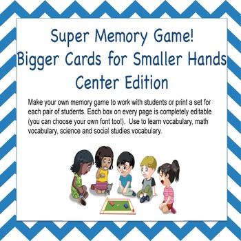 Super Memory Game - Bigger Cards Edition