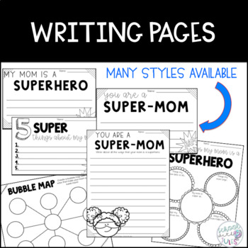 Super Mom Mothers Day Writing Craftivity