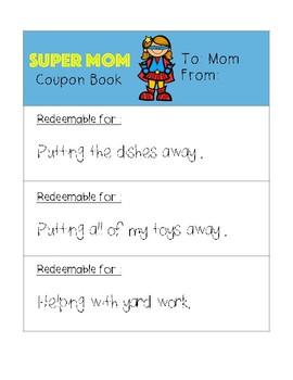 Super Mom/Grandma Mother's Day Activites