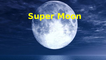 Super Moon - Power Point - facts information dates - pictures