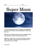 Super Moon - information facts questions lesson  - Nov 2016 Super Moon