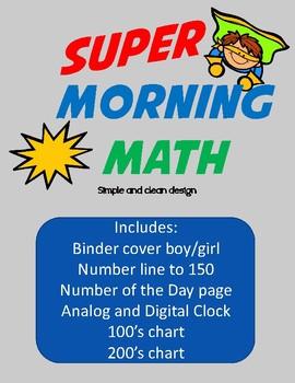 Super Morning Math Binder