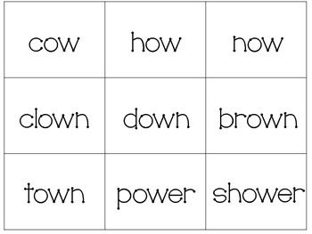 Super Mouse: Ou / Ow word sort